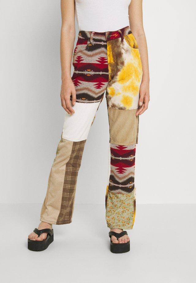 PATCHWORK TAPESTRY BOYFRIEND  - Trousers - multi