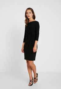 Lauren Ralph Lauren Petite - TRAVA 3/4 SLEEVE DAY DRESS - Etuikjoler - black - 2