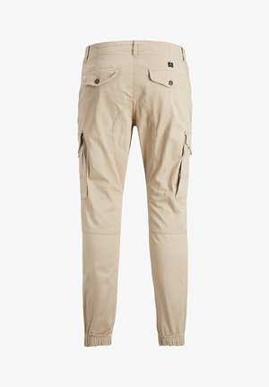 JACK & JONES JUNIOR CARGOHOSE JUNGS TAPERED FIT - Pantaloni cargo - white pepper