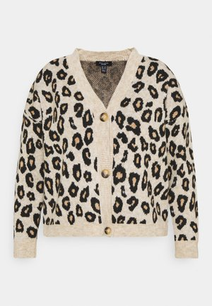ANIMAL BUTTON THROUGH CARDIGAN - Strikjakke /Cardigans - brown