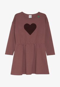 Fred's World by GREEN COTTON - STAR SOLID DRESS - Jersey dress - dark rose - 2