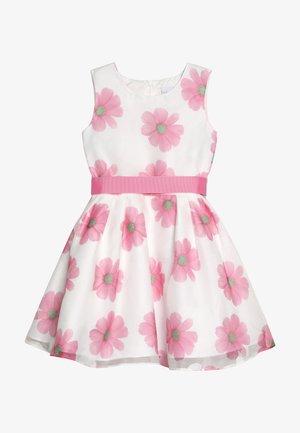Koktejlové šaty/ šaty na párty - weiß/ pink