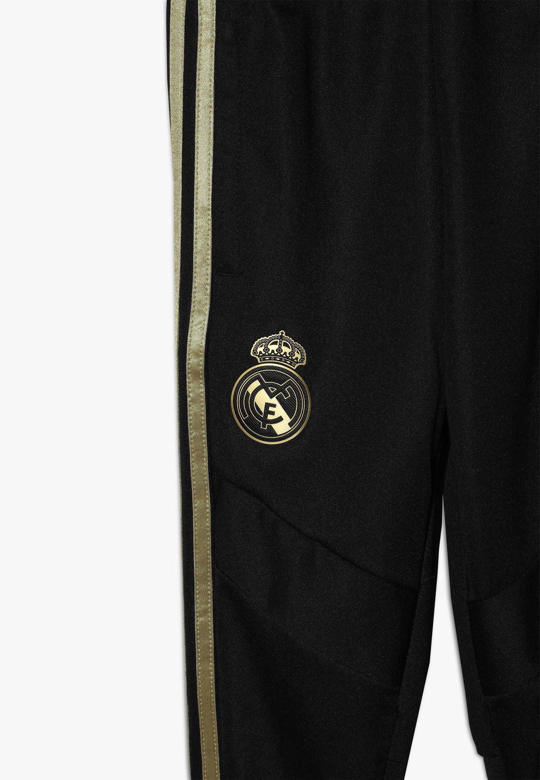 Excellent Wholesale adidas Performance REAL MADRID - Club wear - black/dark gold   kids's clothing 2020 muI0C