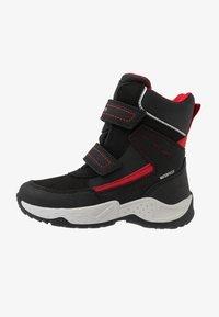 Geox - SENTIERO BOY WPF - Winter boots - black/red - 1