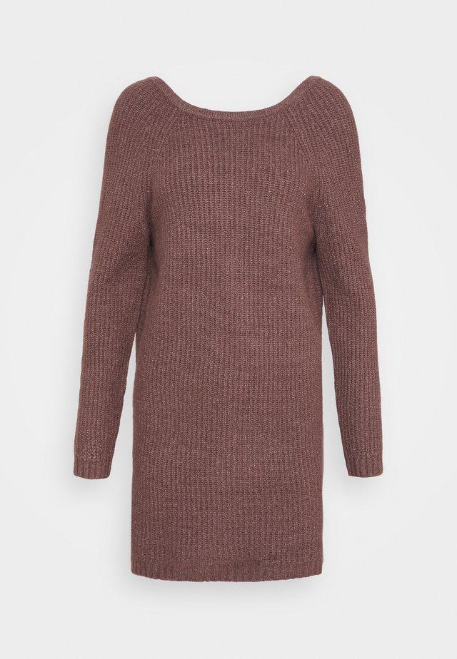 TWIST BACK DRESS - Jumper dress - light bark