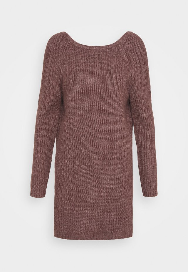 TWIST BACK DRESS - Robe pull - light bark