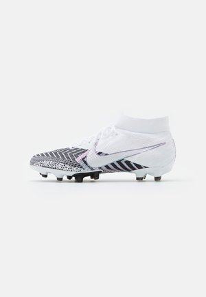 MERCURIAL 7 PRO MDS AG-PRO - Moulded stud football boots - white/black