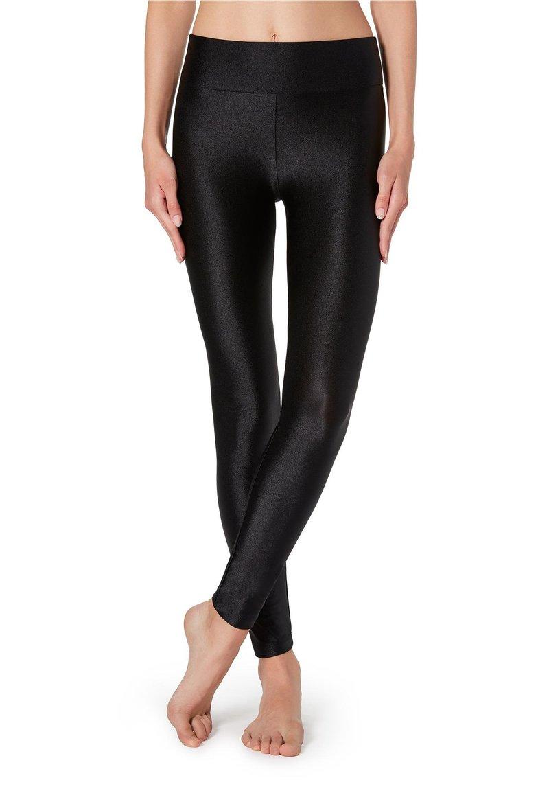 Calzedonia - SUPERGLÄNZENDE LEGGINGS - Leggings - Trousers - black