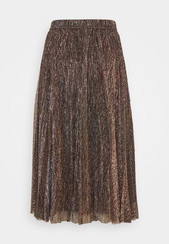 PLEATED PLISSE SKIRT - A-line skirt - gold/black
