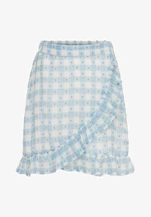 Wrap skirt - blue fog