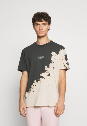 CREW - Print T-shirt - washed black/ecru