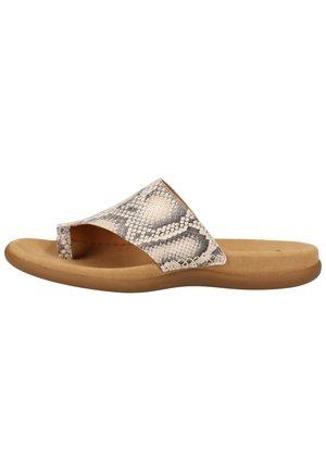 T-bar sandals - brown/beige