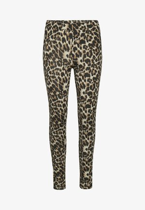KAPAPPI  - Leggings - Trousers - brown leo print