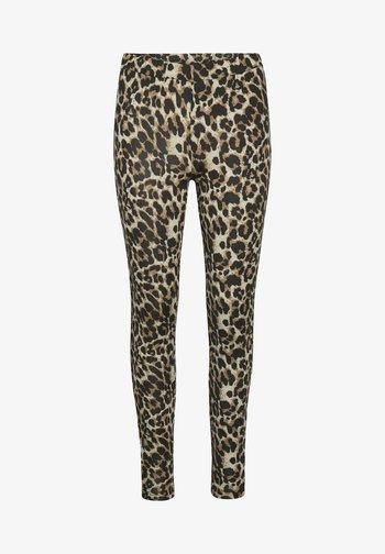 KAPAPPI  - Leggings - Trousers - brown leo print