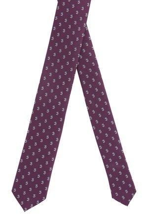 TIE 6 CM TRAVELLER - Krawatte - dark purple