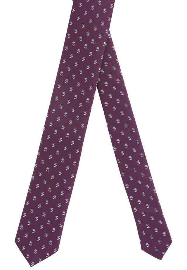 TIE 6 CM TRAVELLER - Krawatte - dark purple