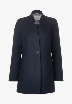 MIT KREMPEL-DETAIL - Short coat - blue