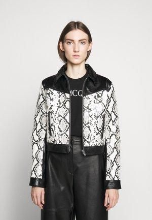 SAKURA JACKET - Leather jacket - white/black