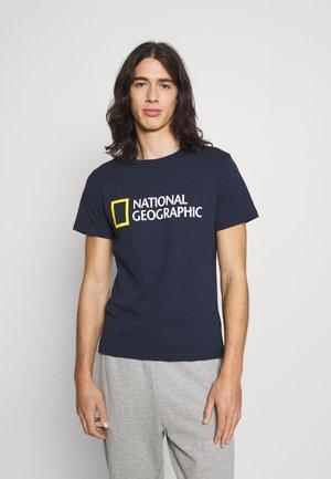 BIG LOGO - T-shirt print - navy