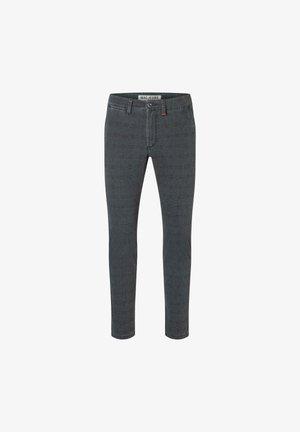 LENNOX , PRINTED FLEXGABARDINE - Jeans Tapered Fit - mottled dark grey