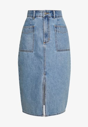 Pencil skirt - light-blue denim