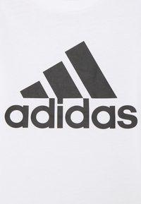 adidas Performance - UNISEX - T-Shirt print - white/black - 2