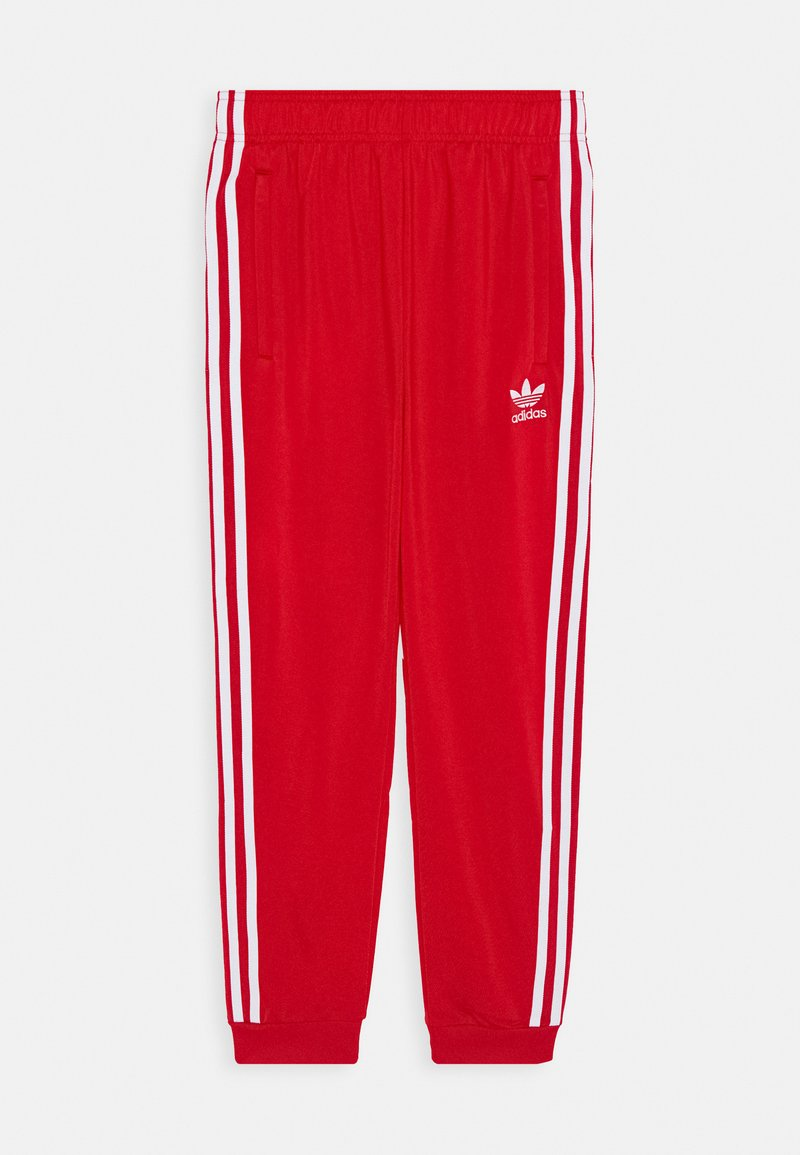 adidas Originals - ADICOLOR PRIMEGREEN PANTS - Teplákové kalhoty - scarle/white