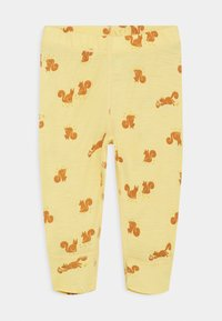 Lindex - BABY WOOL PRINT UNISEX - Leggings - Trousers - dusty yellow - 0