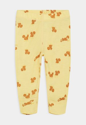 BABY WOOL PRINT UNISEX - Leggings - Trousers - dusty yellow