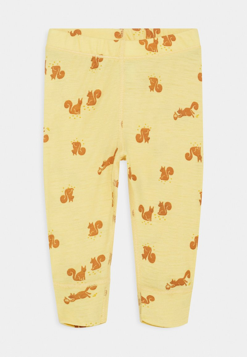 Lindex - BABY WOOL PRINT UNISEX - Leggings - Trousers - dusty yellow