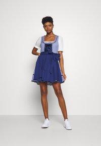 ONLY - ONLLOLA LACE UP DIRNDL DRESS SET - Dirndl - cloud dancer/blue - 1