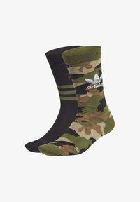 adidas Originals - CAMO CREW SOCKEN, 2 PAAR - Sports socks - green - 0