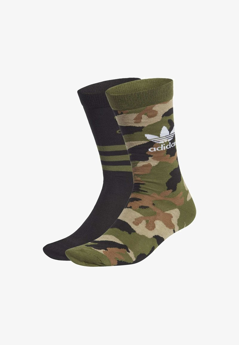 adidas Originals - CAMO CREW SOCKEN, 2 PAAR - Sports socks - green