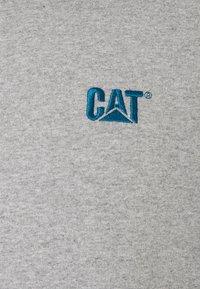 Caterpillar - CAT SMALL LOGO HOODIE - Luvtröja - heather grey - 2