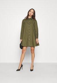 Missguided - CONTRAST STITCH DRESS - Shirt dress - khaki - 3