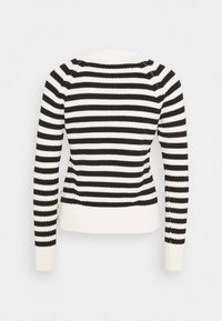 Scotch & Soda - CHUNKY BLEND WITH BUTTON DETAIL AT SIDE - Jumper - off-white/black - 1