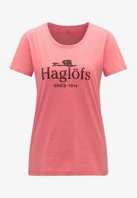 Haglöfs - MIRTH TEE - Print T-shirt - rusty pink/maroon red - 4