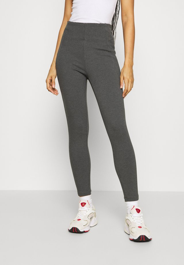 VIVALAS NEW - Leggings - dark grey melange