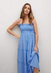 Mango - Maxi dress - blauw - 2