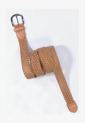 Braided belt - haselnuss