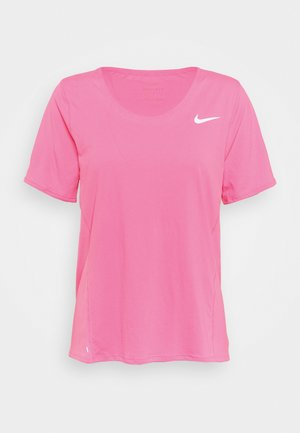 CITY SLEEK - Print T-shirt - pink glow/silver