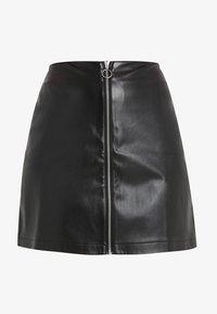 Urban Classics Curvy - LADIES ZIP SKIRT - A-line skirt - black - 3