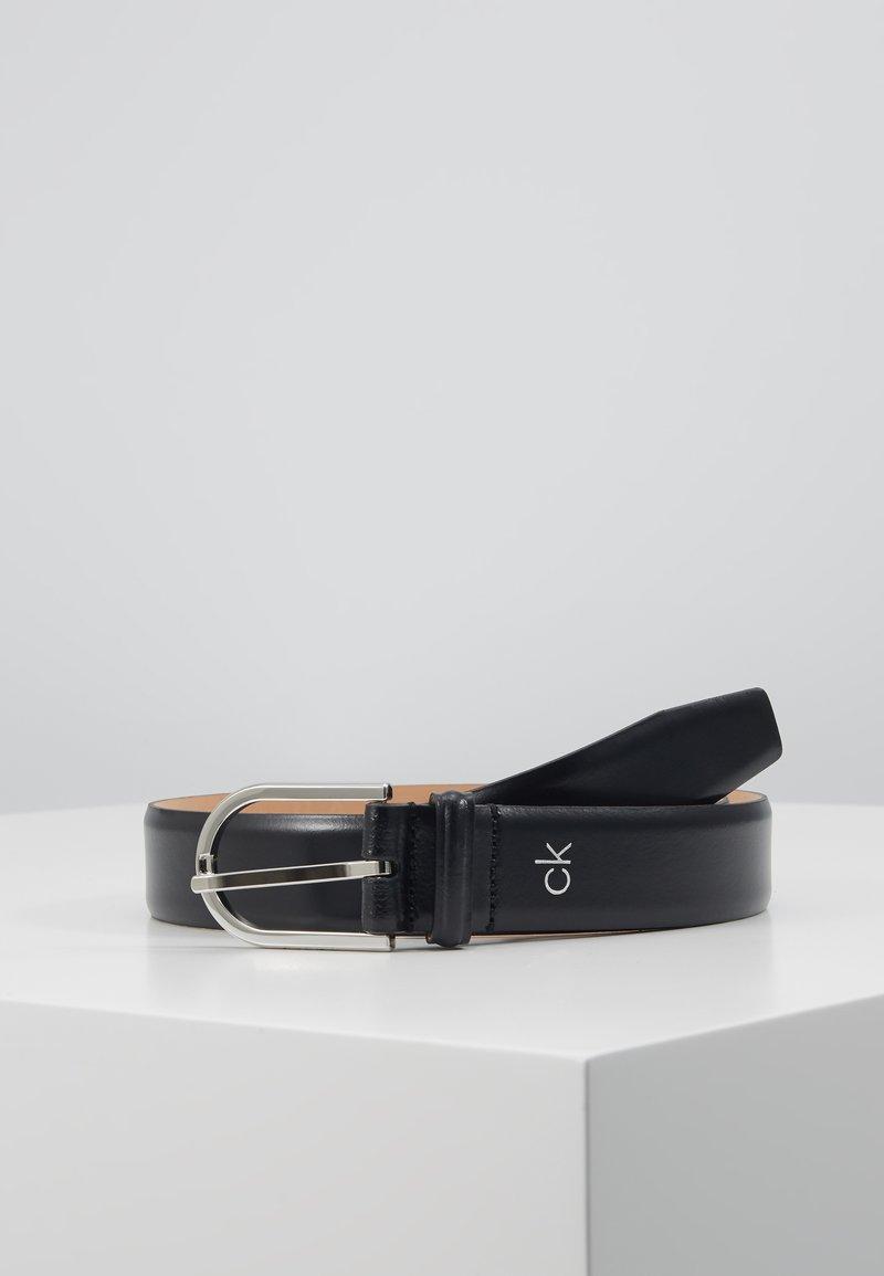 Calvin Klein - ROUND BUCKLE - Belt - black