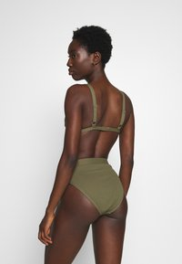 NA-KD - STRUCTURED HIGH WAISTED BOTTOM - Bikinibroekje - burnt olive - 2