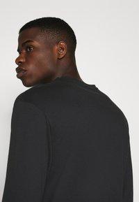 Jack & Jones - JORMORNING TEE LS CREW NECK - Long sleeved top - black - 4