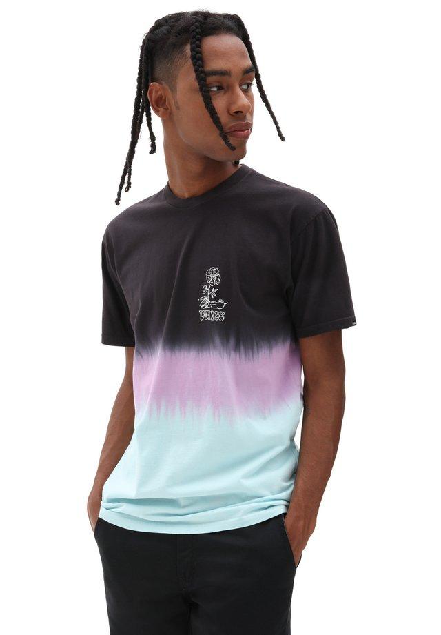 MN NEW AGE TIE DYE SS - Print T-shirt - plume