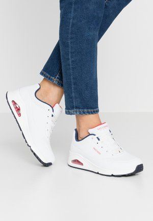 UNO - Joggesko - white/navy/red