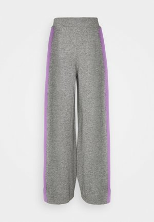 SIDE STRIPE TRACK PANTS - Trousers - grey/lilac