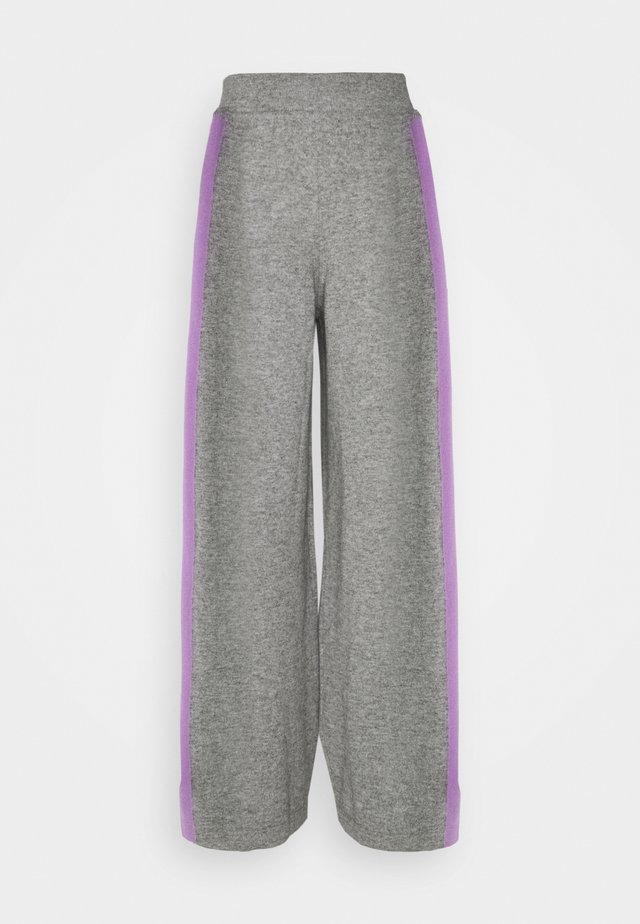 SIDE STRIPE TRACK PANTS - Bukser - grey/lilac