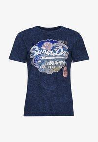 Superdry - T-shirt imprimé - lauren navy - 3